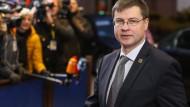 EU-Vizepräsident Valdis Dombrovskis