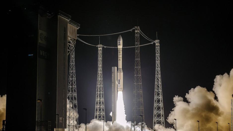 Der Start der Rakete