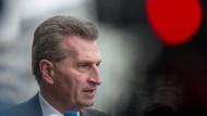Oettinger will mehr Härte gegen Google