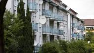 Ein Objekt der Deutsche Wohnen AG im Osten Frankfurts