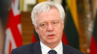 Brexit-Minister David Davis, hier bei seinem Besuch in Litauen