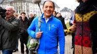 Saul Luciano Lliuya Ende November vor dem Gericht in Essen