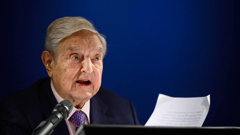 George Soros (88) hat auch in diesem Jahr in Davos eine Rede gehalten.
