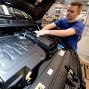 Sorgenkind Autoindustrie: Montage bei VW