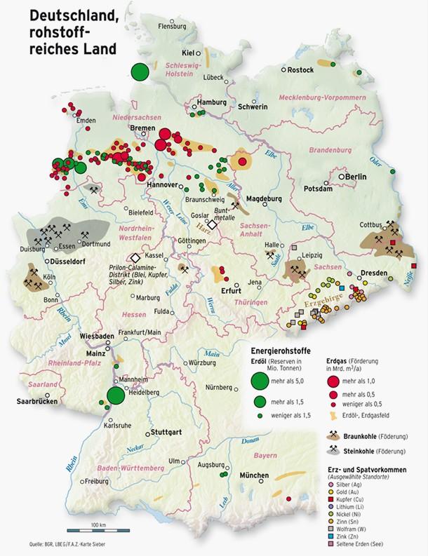 Bergbau Erzgebirge Karte.In Deutschland Wird Wieder Gebuddelt