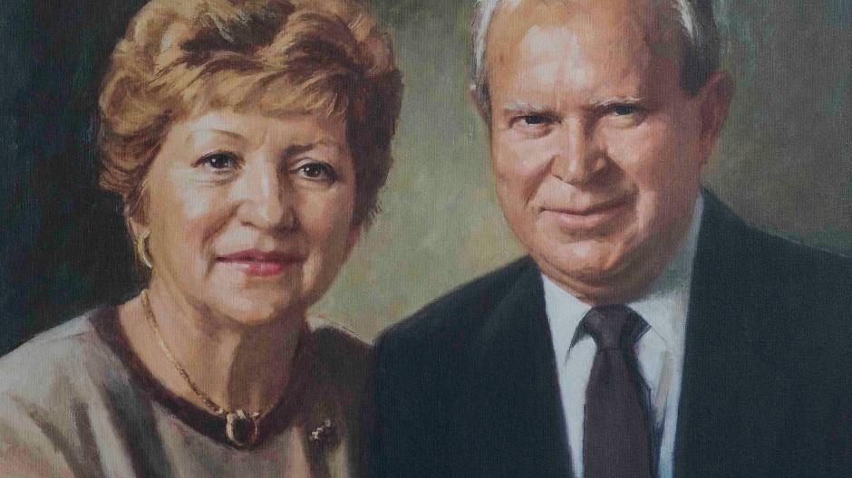 Stifter-Paar: Marcela Botnar (geboren 1928) und Octav Botnar (1913–1998)