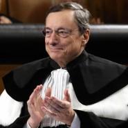 Mario Draghi während der Verleihung der Ehrendoktorwürde der Katholischen Universität in Mailand an ihn im Oktober.