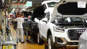 Bei Audi in Ingolstadt stehen die Bänder still
