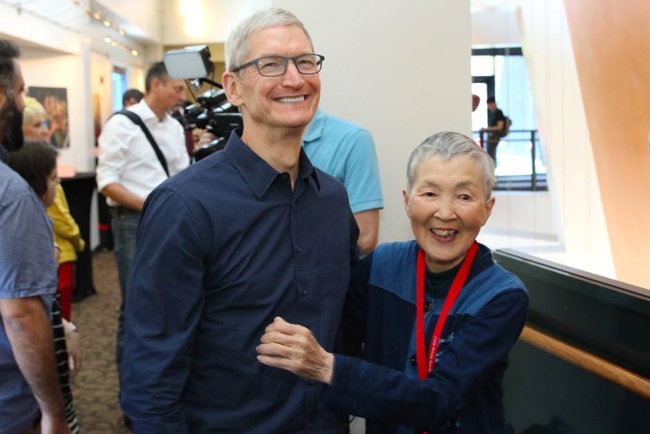 Auf der Apple-Entwicklerkonferenz WWDC traf sie Tim Cook.
