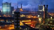 Das Duisburger Stahlwerk (Bild aus 2012)