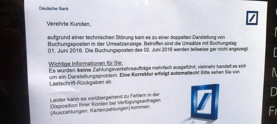 Deutsche Bank Ec Karte.Software Fehler Der Deutschen Bank Im Online Banking