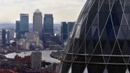 """In der """"City"""": Londons Banken müssen handeln, wenn sie auch nach dem Brexit noch Geschäfte in der EU machen wollen."""