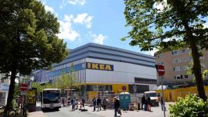 Mit dem Fahrrad zu Ikea