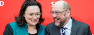 Neue Hoffnung in der SPD: Andrea Nahles und Martin Schulz