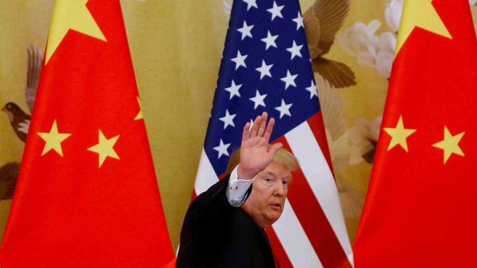"""""""Tschüss"""": Donald Trump erhöht die Zölle auf Chinas Produkte und setzt Peking damit unter Druck."""