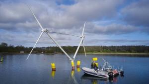ENBW testet schwimmende Windräder im Baggersee