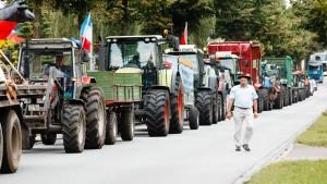 Bauern protestieren gegen niedrige Milchpreise