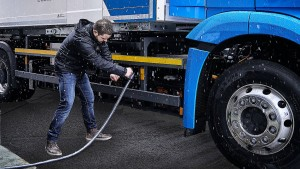 Serienproduktion eines deutschen Elektro-Lasters
