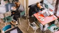 Zusammenrücken gilt auch für Start-ups: Coworking-Space in Berlin