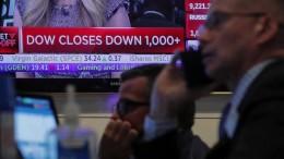 Dow-Jones-Index verliert rund 1000 Punkte