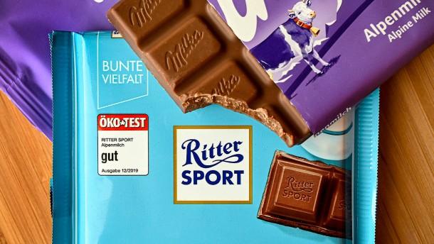 Schokoladenquadrat von Ritter Sport bleibt als Marke geschützt