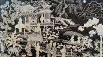 Chinesischer Eisenstich aus der Epoche der Han-Dynastie, die in China zwischen 206 v. Chr. und 220 n. Chr. herrschte.