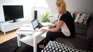 Nicht immer gesund: die Rückenhaltung im Home Office
