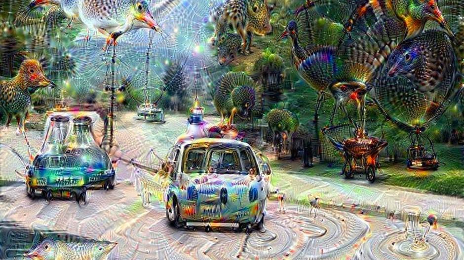 So sieht Bilderkennungssoftware ein Auto – eine Google-Animation.