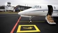 Eine Cessna Citation auf dem Flugplatz Egelsbach bei Frankfurt