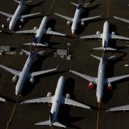 Geparkte Boeing 737 Max-Maschinen in Seattle (Symbolfoto)