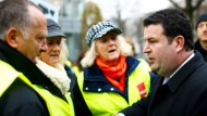Der Minister als Vorkämpfer für höhere Löhne: Hubertus Heil auf einer Gewerkschaftsdemonstration.