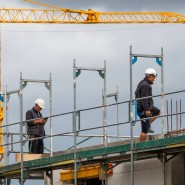 Viel beschäftigt: Bauarbeiter in Hannover