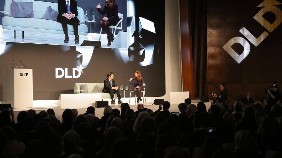 Kai-Fu Lee auf der DLD-Bühne in München.