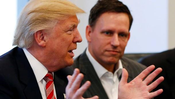 Peter Thiels Zauberkugel hilft Donald Trump