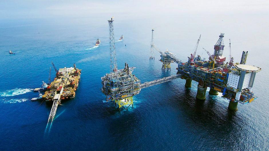 Gasförderung im norwegischen Sleipner-Feld, in dessen Nähe CO2 unter die Erde gepresst wird.