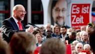Martin Schulz am Mittwoch in Gelsenkirchen