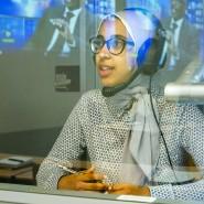 Konzentration! Übersetzerkabine für Islamwissenschaftler am Orientalischen Institut der Uni Leipzig.
