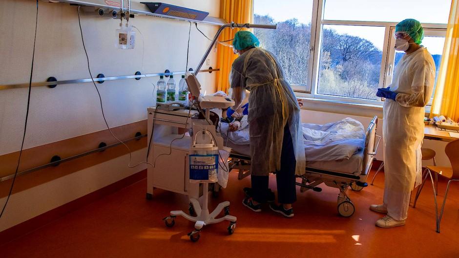 Eine Isolierstation im Helios-Klinikum Schwerin