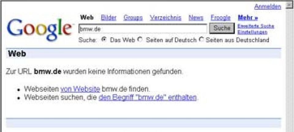 Internet Nur Ein Kurzer Streit Zwischen Google Und Bmw