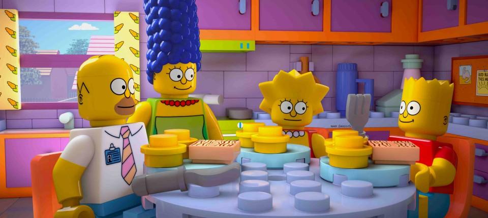 Zeichentrickserie Die Simpsons Bauen Auf Noppensteine Wirtschaft
