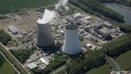Das Atomkraftwerk Philippsburg bei Karlsruhe