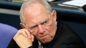 Schäuble: Rentenbeiträge steigen bis 2017 nicht
