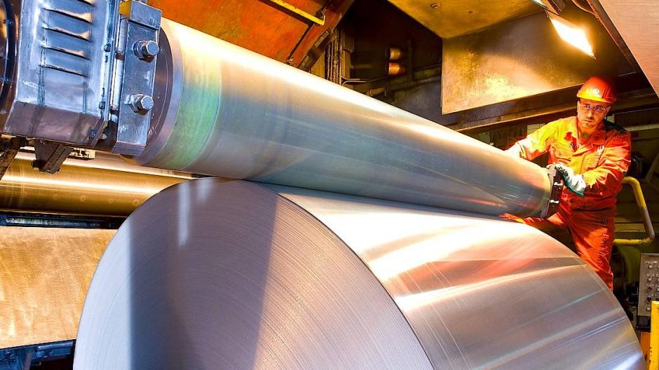 Folienwalzanlage im Aluminiumwerk Grevenbroich des Unternehmens Hydro