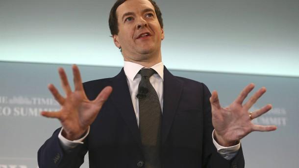 Britischer Finanzminister kassiert sein eigenes Haushaltsziel