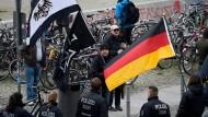 "Teilnehmer einer ""Bärgida""-Demonstration in Berlin."