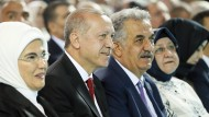 Der türkische Präsident Erdogan am Samstag auf einem Treffen der AKP in Ankara.