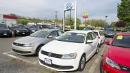 Noch nachgefragt: Autos von Volkswagen stehen auf dem Hof eines Händlers in Alexandria, Virginia, zum Verkauf.