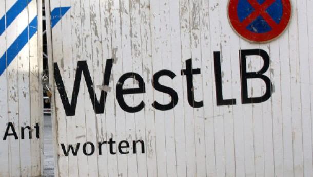WestLB Bauzaun