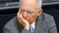 Wolfgang Schäuble am Freitagmorgen im Bundestag