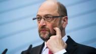 """""""Was Trump macht, ist unamerikanisch"""", sagt Martin Schulz."""